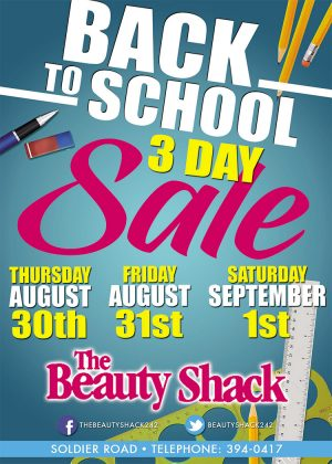 Back to School Sale at The Beauty Shack - My Deals Today Bahamas