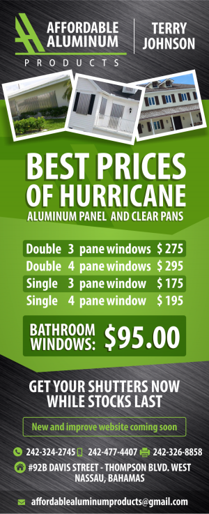 Best Prices of Hurricane Aluminum Panel - My Deals Today Bahamas