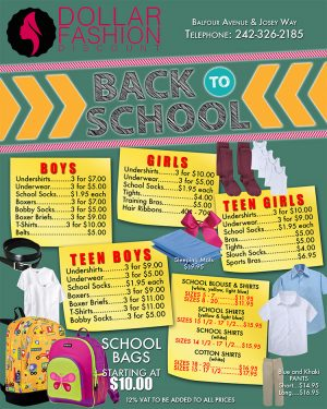 Back to School with Dollar Fashion - My Deals Today Bahamas