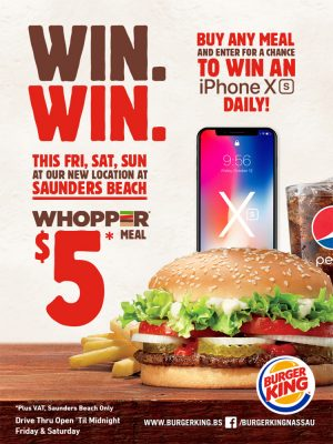 Win with Burger King Sanders Beach - My Deals Today Bahamas