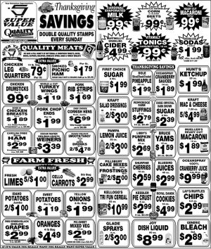 Thanksgiving Savings - Super Value and Quality Supermarkets