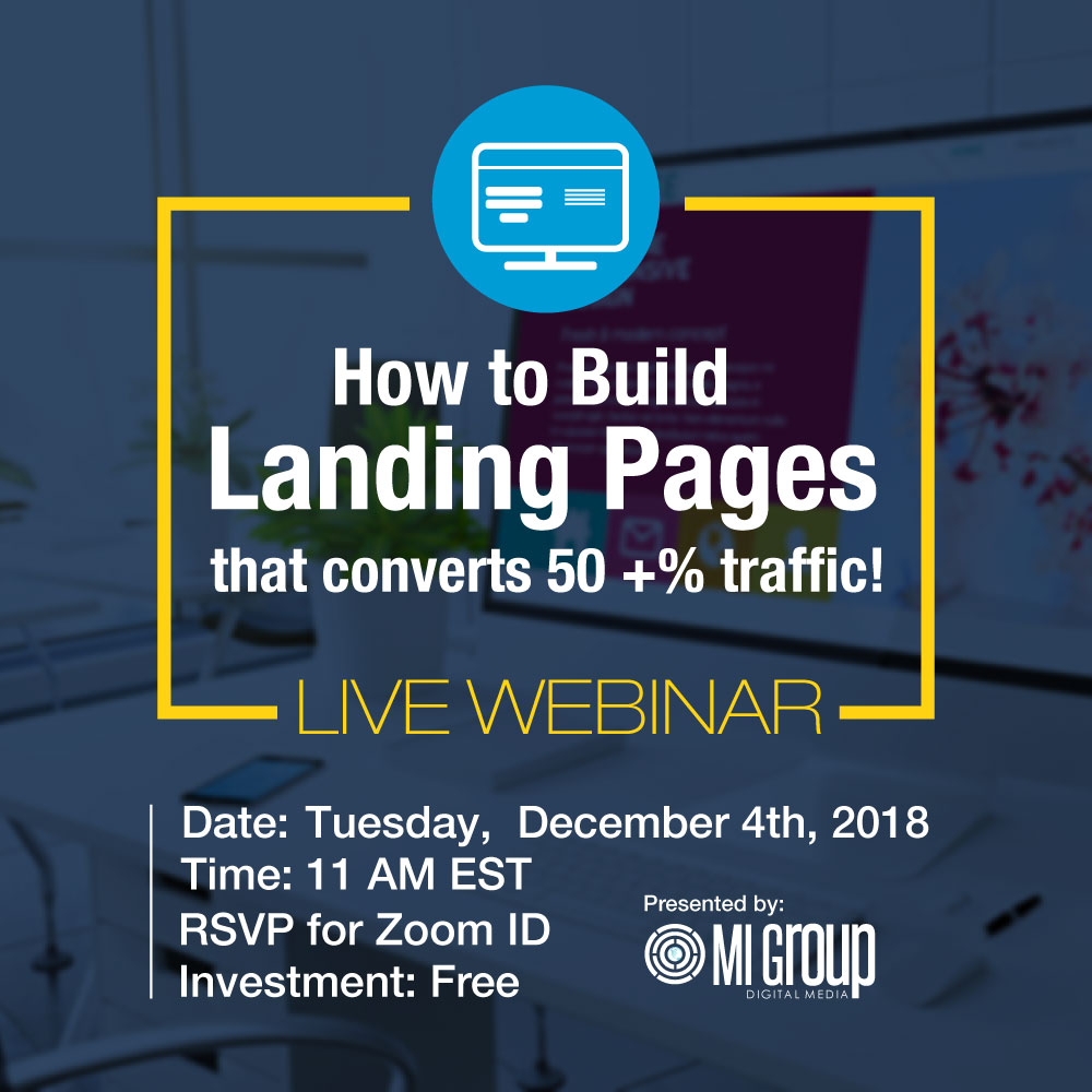 Webinar: Build Landing Pages that Converts 50+% Traffic  My Deals Today