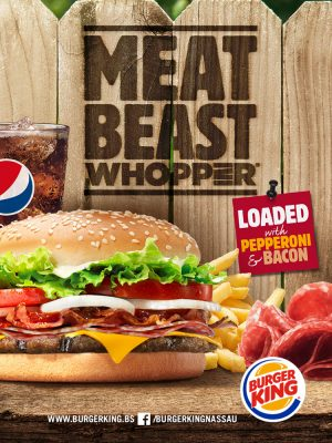 The Meat Beast Whopper is Back at Burger King Nassau